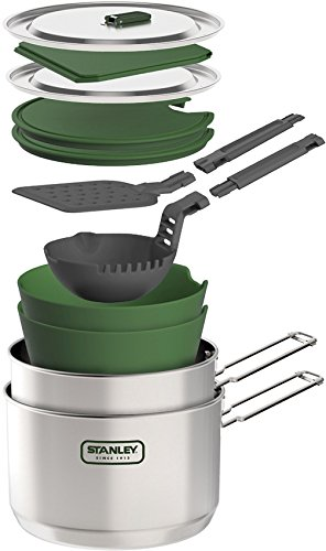 Stanley Adventure Two Pot Prep and Cook Set, Stainless Steel
