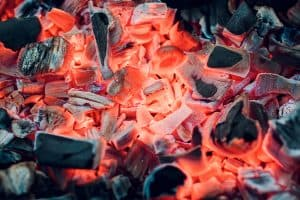 Wood Fire Coals for Cooking