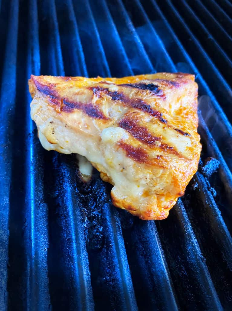 Grilled Buffalo Chicken Stuffed with Cheese